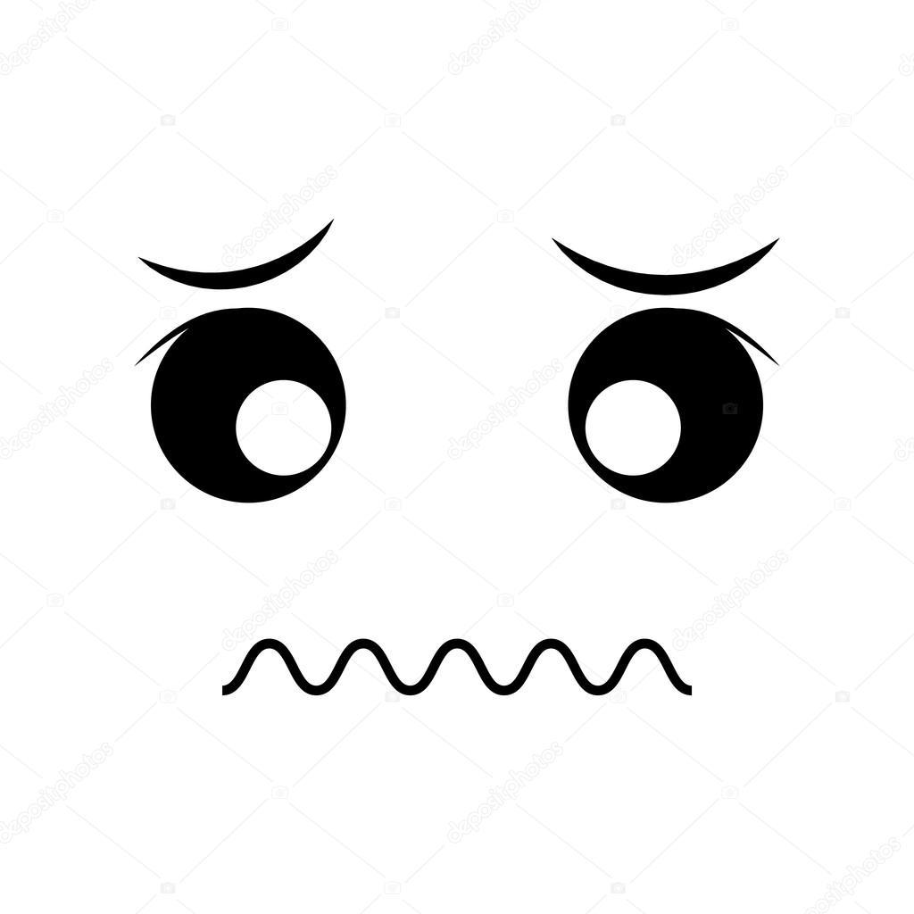 Sad face cartoon expression icon. Vector graphic — Stock Vector
