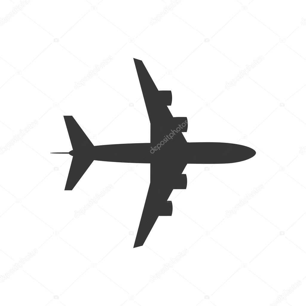 airplane silhouette travel icon vector graphic stock vector djv rh depositphotos com airplane graphic free airplane graphic for powerpoint