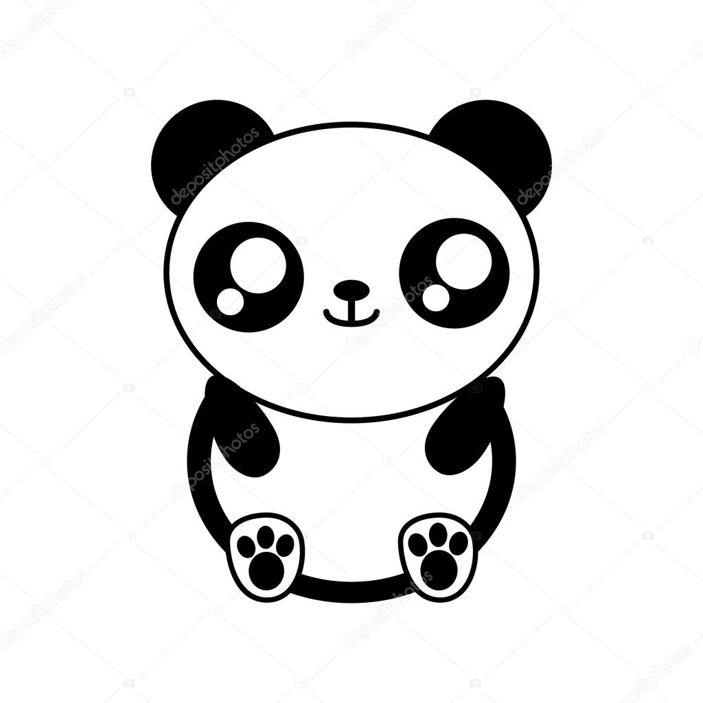 Ours Panda Kawaii Cute Animal Icone Image Vectorielle Djv C 119816458
