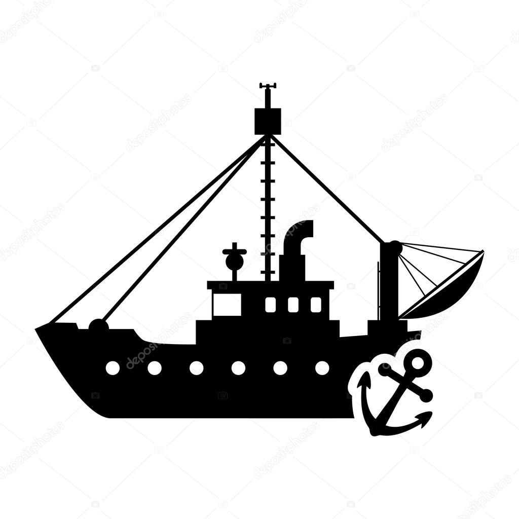 ship anchor transportation design stock vector djv 121731628 rh depositphotos com pirate ship silhouette vector cargo ship silhouette vector