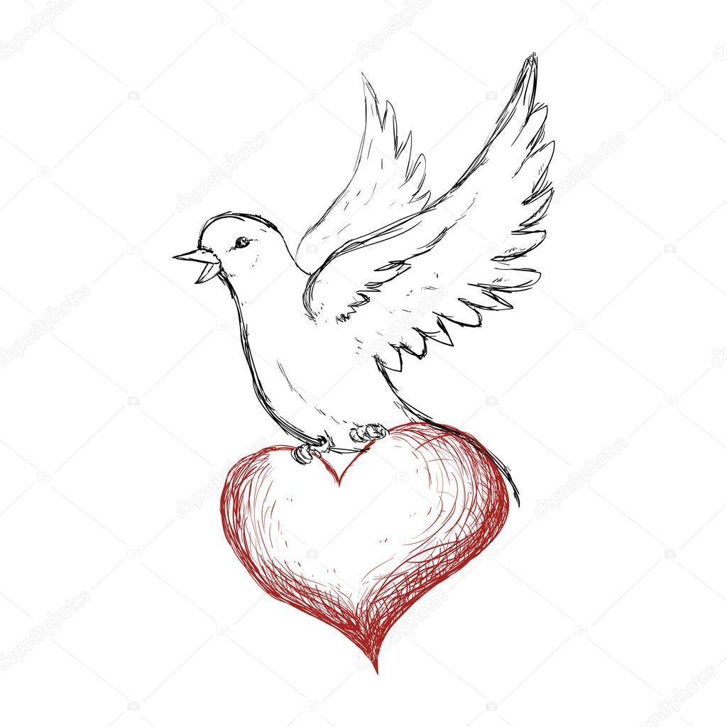 Symbol Weiße Taube