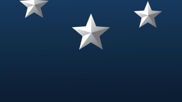 stříbrné hvězdy v modré pozadí animace