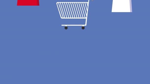vzor animace ikon sady nákupů