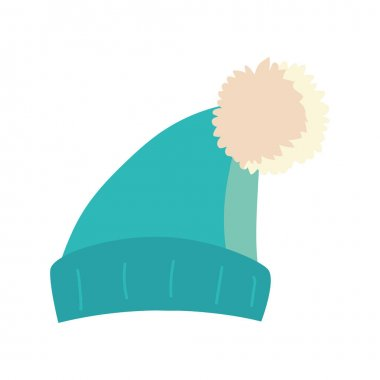 Winter hat warm clothes icon isolated design vector illustration icon
