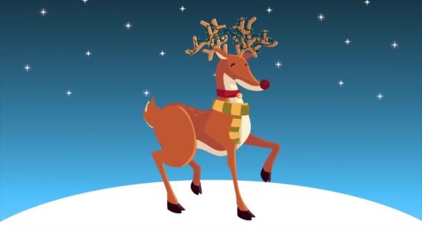 Boldog karácsonyt animáció rénszarvasokkal