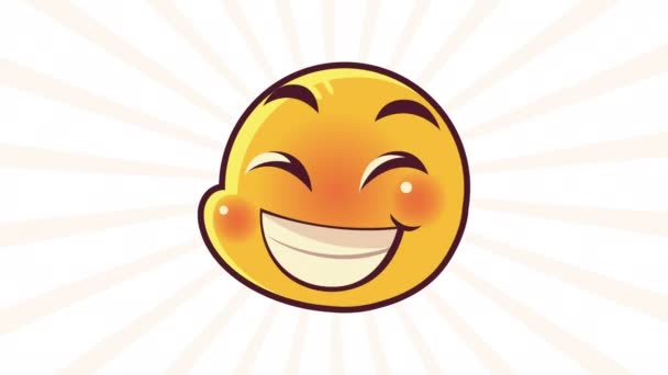 cute emoticon happy face character animation