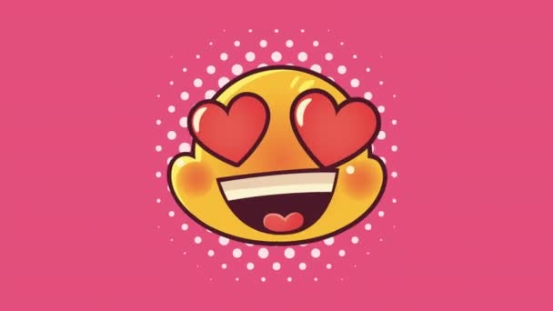 cute emoticon lovely face character animation