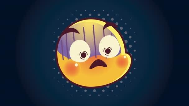 niedliche Emoticon kranken Gesicht Charakter Animation