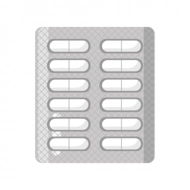Blisters of tablets medicine isolated icon icon