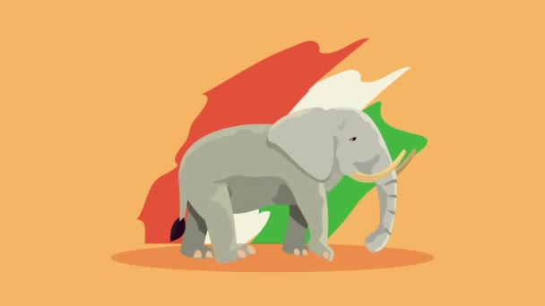 Oslava indie animace s vlajkou a slonem