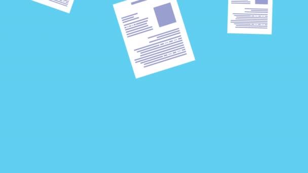 files documents data pattern animation