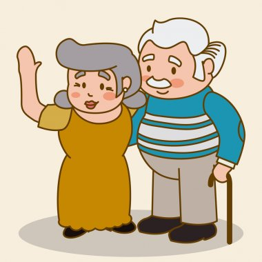 Grandparents design over beige background, vector illustration. clip art vector