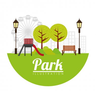 Park digital design, vector illustration 10 eps graphic stock vector