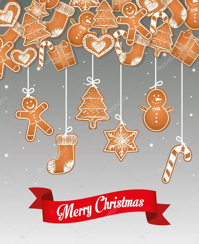 Buon Natale E Buone Feste Natalizie.Illustrazione Di Buone Feste Natalizie Design Carta Di Buon