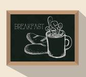 Snídaně jídlo design