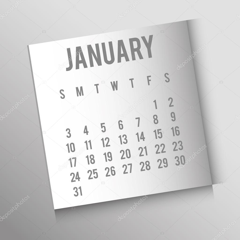 Calendario Del Ano 1957.Programacion De Calendario De Ano Nuevo Vector De Stock