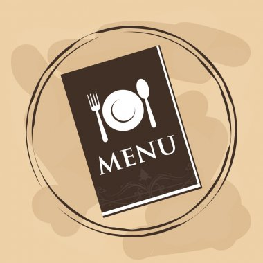 Menu and restaurant icons design