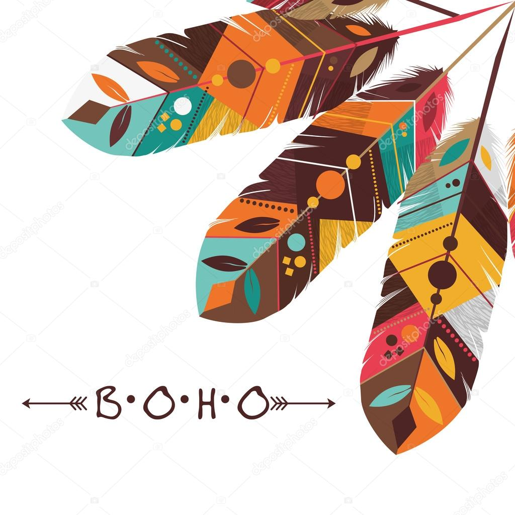 Boho Concept With Feather Icon Design Vector Illustration 10 Eps Graphic By Djv