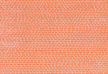 Wall of red brick.