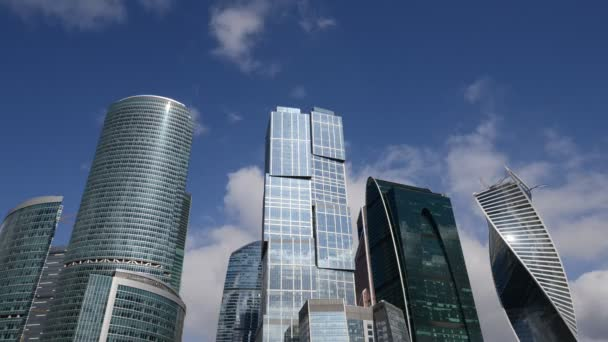 Business Center Moscow City. Time-Lapse.