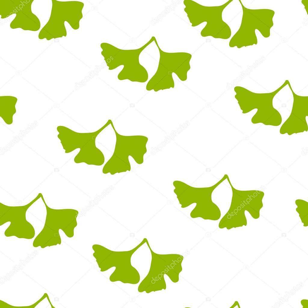 Ginkgo biloba pattern.