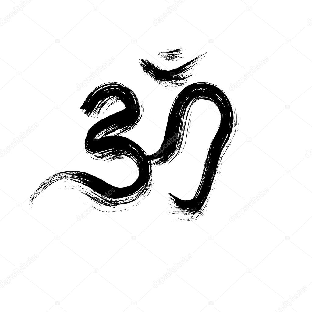 Sign vector hindu om icon in tamil stock vector shnurochek13 om sign painted by hand the sacred symbol in buddhism and hinduism vector by shnurochek13 buycottarizona