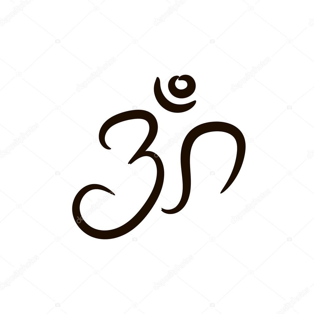Om sign painted by hand the sacred symbol in buddhism and the sacred symbol in buddhism and hinduism stock biocorpaavc Image collections