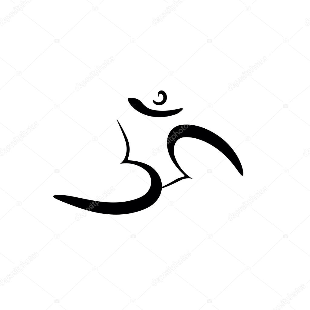 Om sign painted by hand the sacred symbol in buddhism and hinduism the sacred symbol in buddhism and hinduism stock buycottarizona Gallery