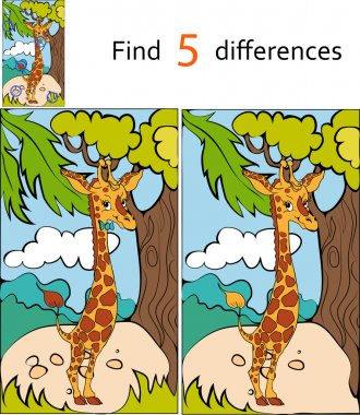 Find differences giraffe