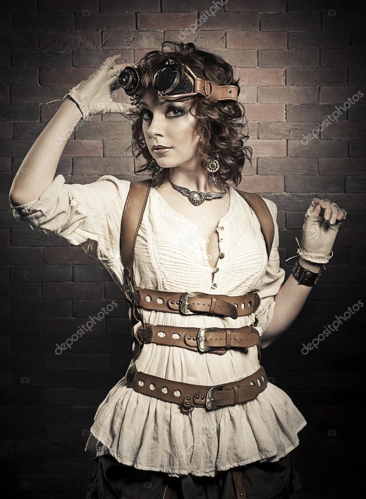 despeje sobornar auténtico disfruta de precio barato Steampunk mujeres | Redhair hermosa mujer con gafas ...