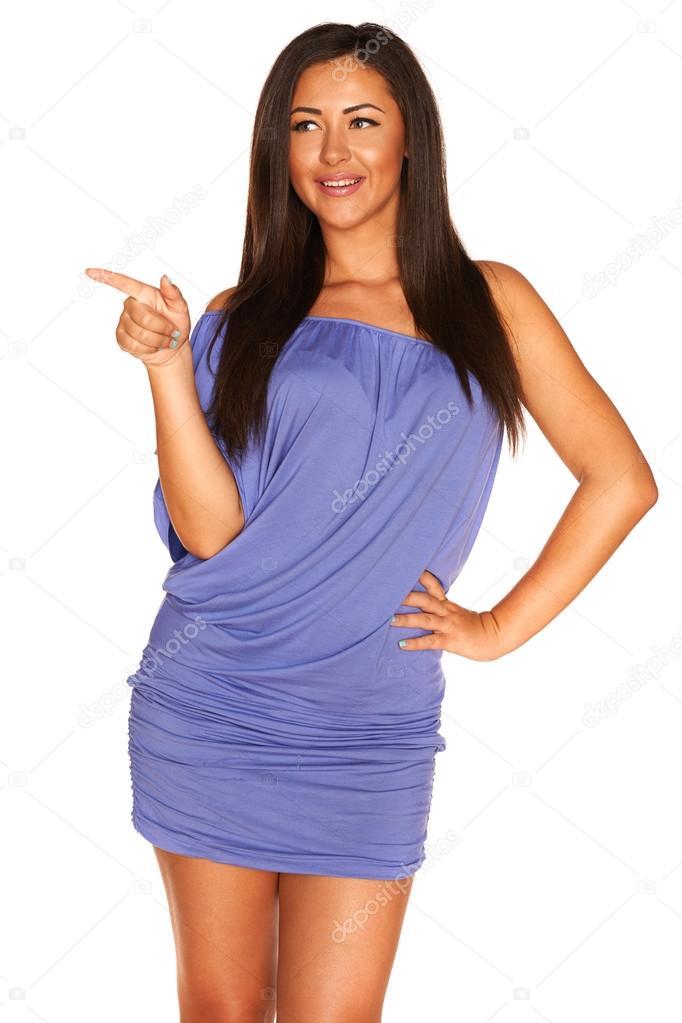 chica en vestido azul — Fotos de Stock © LeGull #58717589