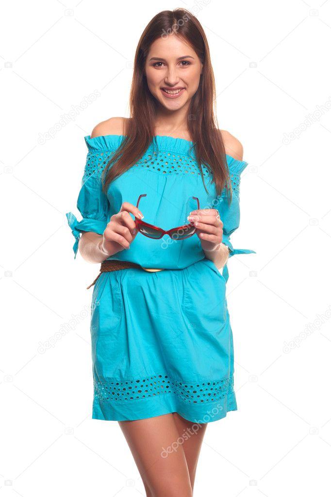 Картинки, картинки с девочкой в очках в голубом платье поздравляю советские