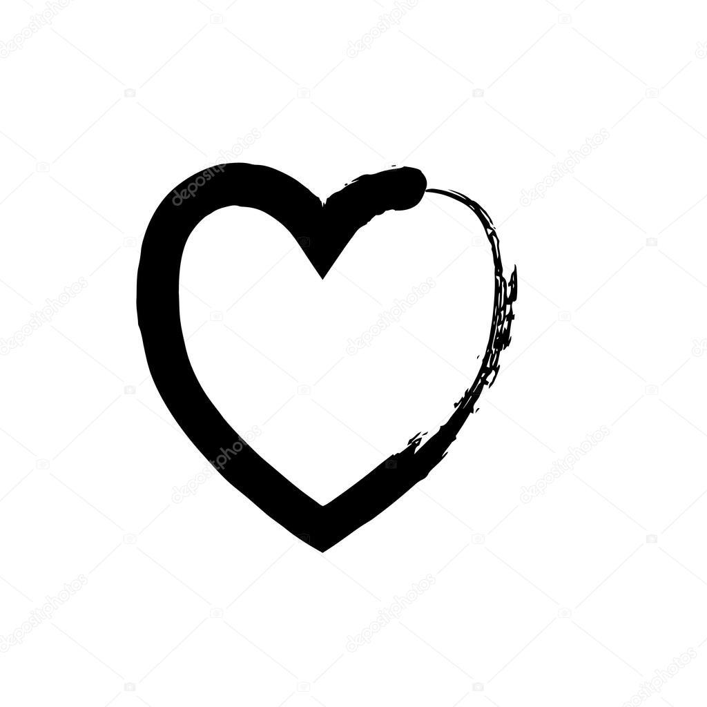 svart hjärta symbol