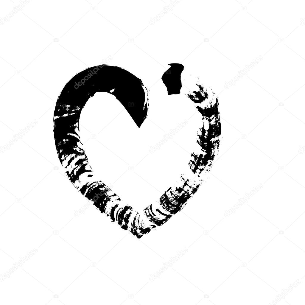 Heart Shape Symbol Love Vector Black Stock Vector Olegkozyrev