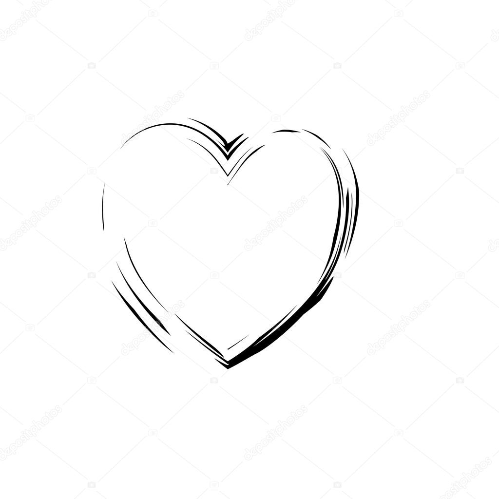 Heart shape symbol love vector black stock vector olegkozyrev heart shape symbol love vector black heart symbol wedding and valentine day heart black outline frame vector by olegkozyrev buycottarizona Image collections