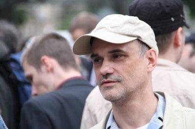 The oppositionist Igor Mandarinov on an oppositional action