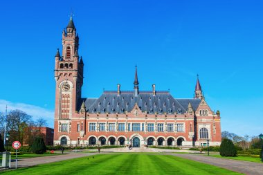 Peace Palace in The Hague, Netherlands