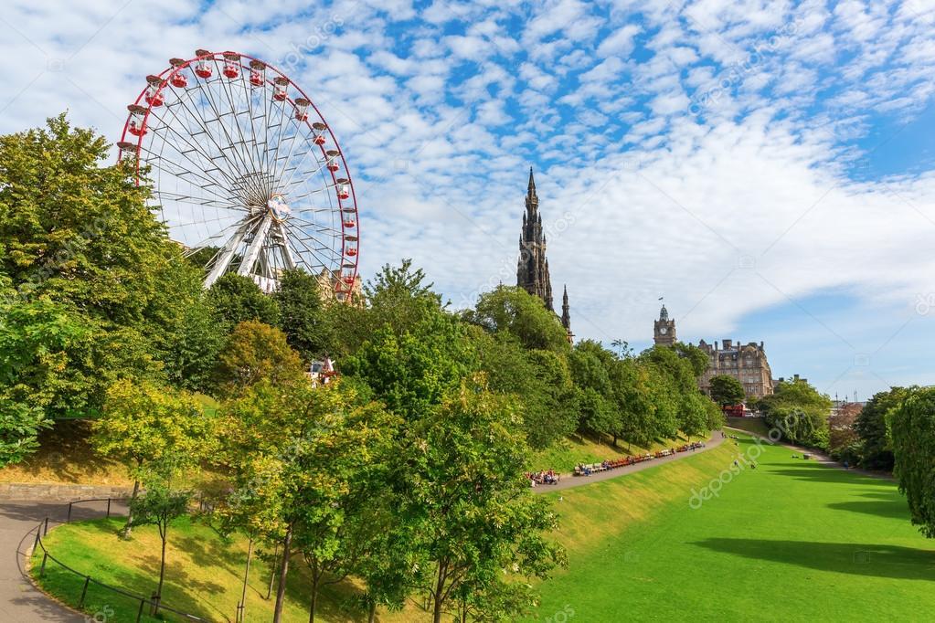 Princes Street Gardens in Edinburgh, Scotland – Stock Editorial ...