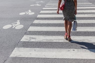 At the pedestrian crossing