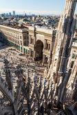 Vista dal Duomo di Milano, sulla Piazza della Cattedrale