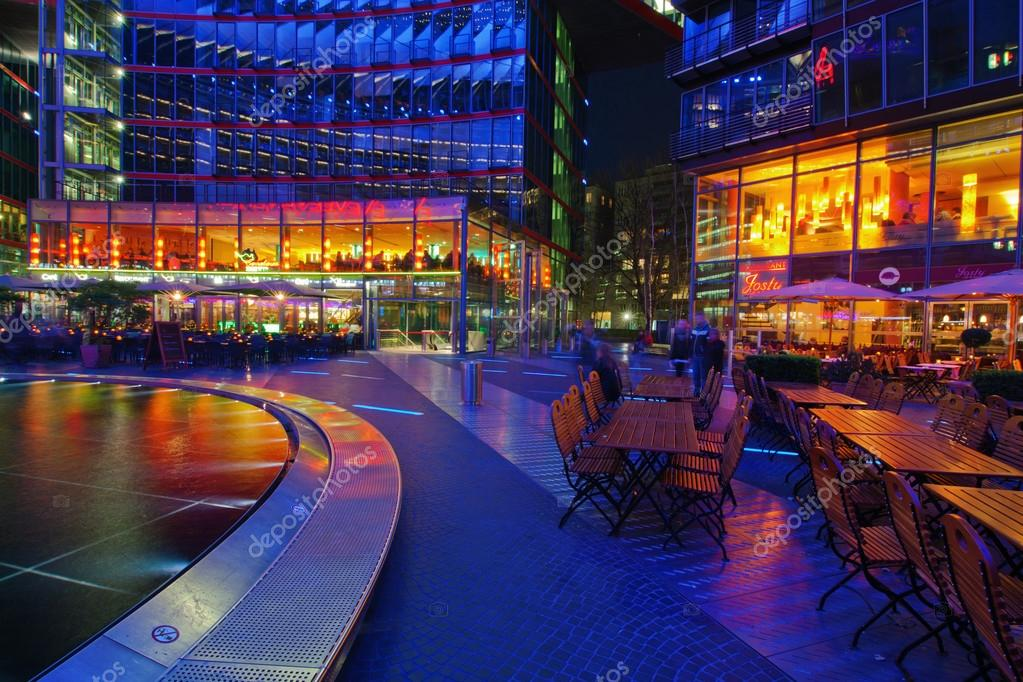 Patio Berlin patio of the sony centre in berlin germany at stock