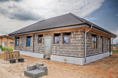 New construction of an one family house