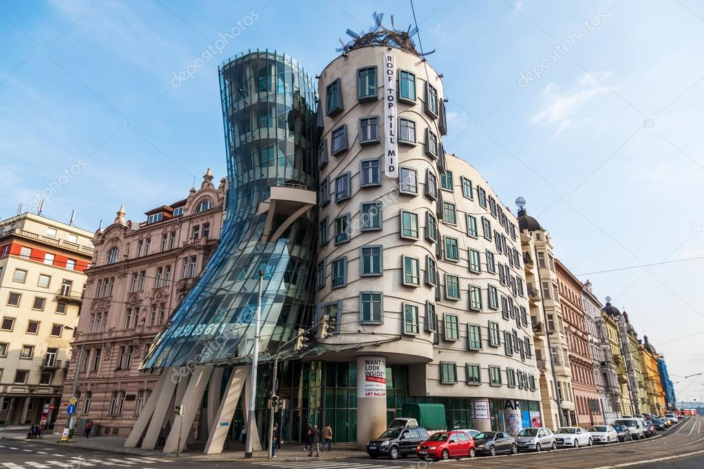 Dancing House from Frank Gehry in Prague, Czechia  Stock Photo #58014201