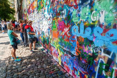 John Lennon Wall in Prague, Czechia