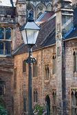 old houses in Vicars Close, Wells, England