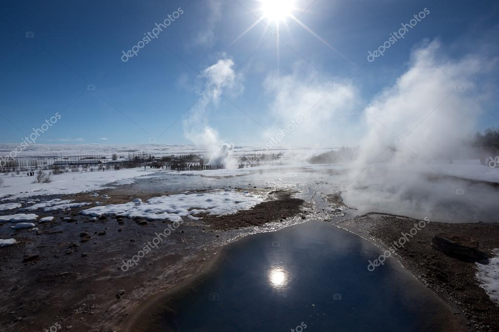 Geyser and Hotspring pools, Iceland