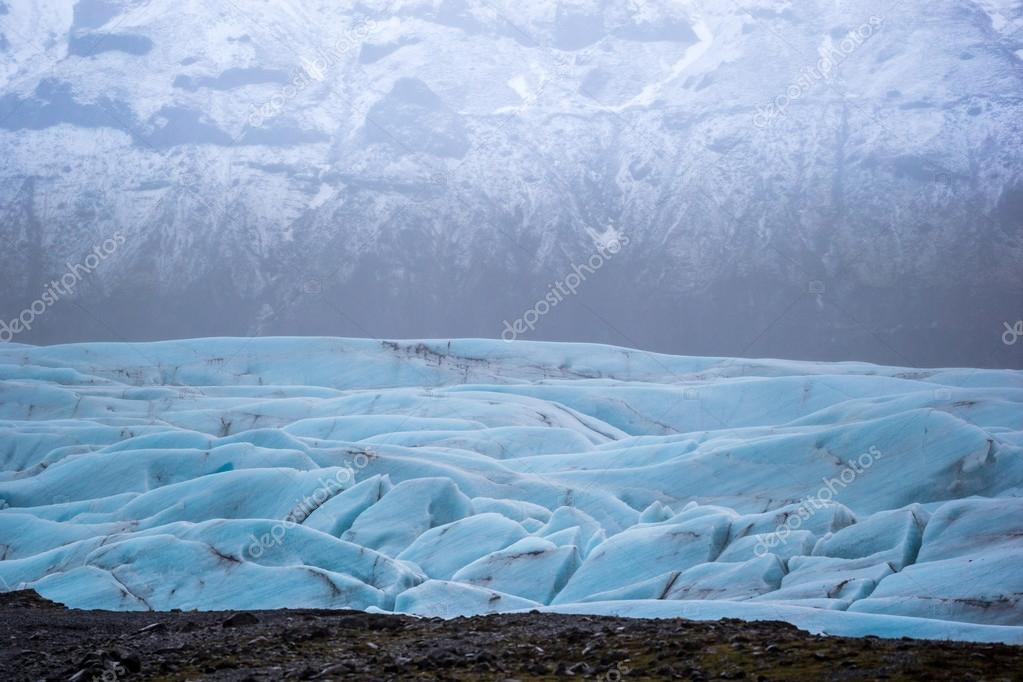 Glacier in Iceland during winter