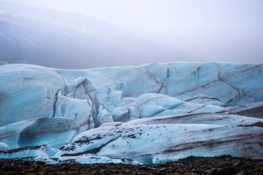 The Svinafellsjokull blue glacier