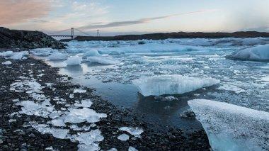 Glacier ice lagoon in Jokullsarlon, Iceland
