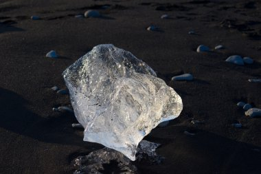Melting ice block